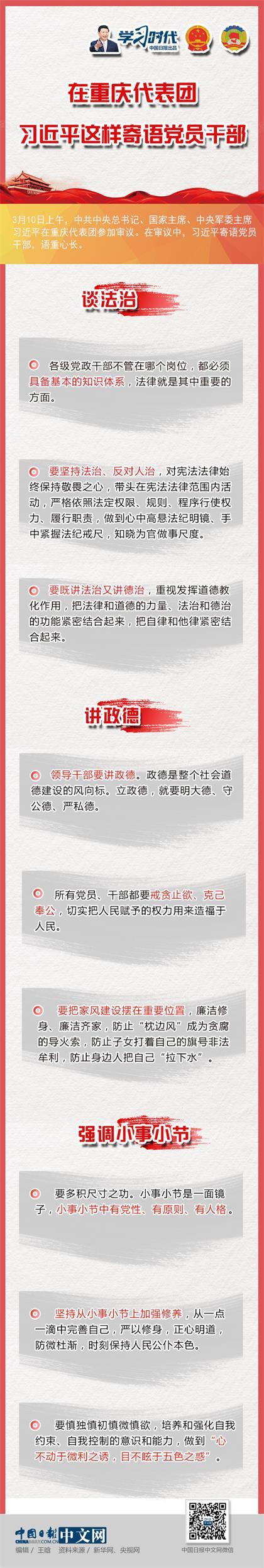 在重庆代表团,习近平这样寄语党员干部