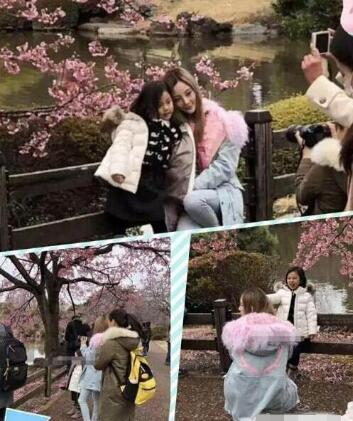 李小璐甜馨游日本 甜馨许久不见成长为可爱美少女