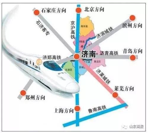 滨州-济南高铁项目线路示意图曝光 设惠民南站和滨州站
