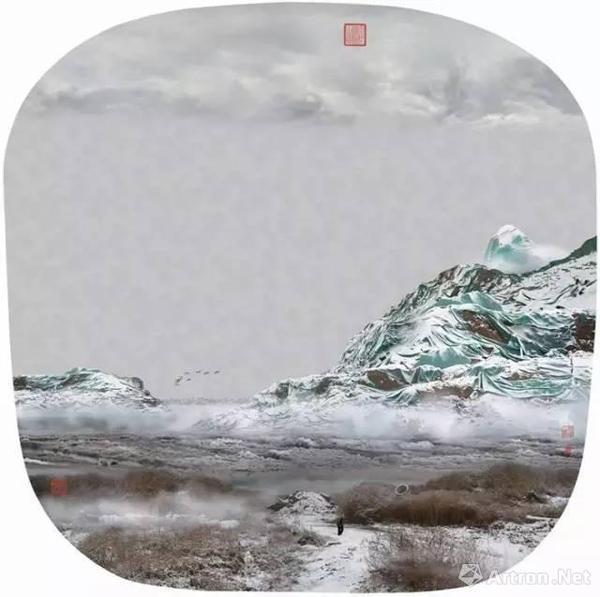疑似国画的中国山水摄影作品