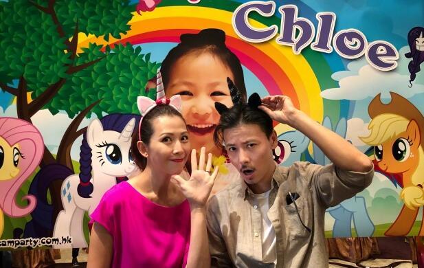 蔡少芬为女儿庆生 女儿五岁了,张晋感慨时间过得太快