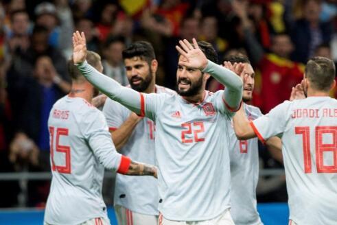 梅西缺阵!西班牙6-1阿根廷 伊斯科帽子戏法奥塔门迪为阿根廷挽回颜面