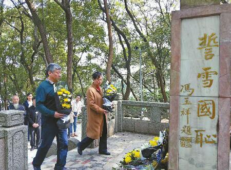 今年是蔡公时烈士殉难90周年 民革济南市委祭奠团到其家乡九江祭奠