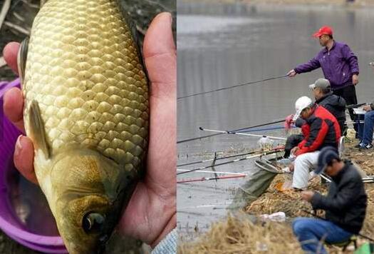 """东北结束冰封期众人排长龙抢钓""""开河鱼"""" 被食客称为美食中的极品"""