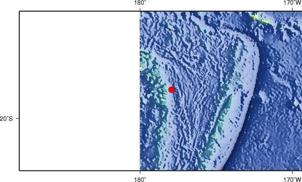 斐济发生5.9级地震 震源深度500千米