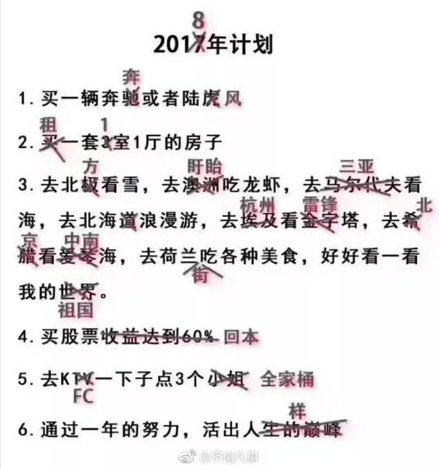 2018年的计划