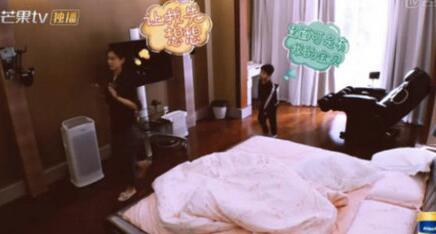 曝黄圣依卧室内景: 一张双人大床 一个不是很大的电视