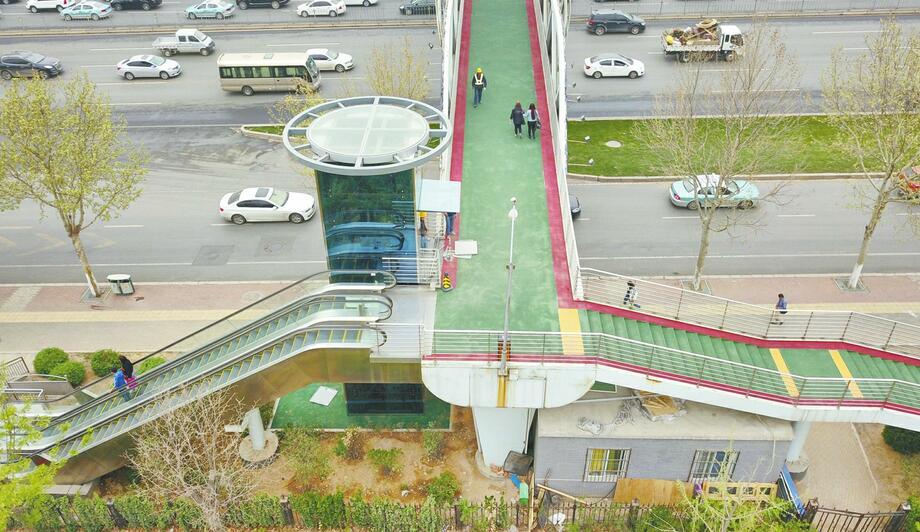 便民新举!济南市区7座过街天桥增设电梯或斜坡道
