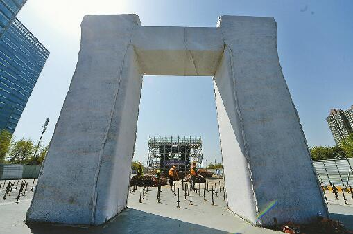 济南北园高架西延首个墩柱浇筑完成