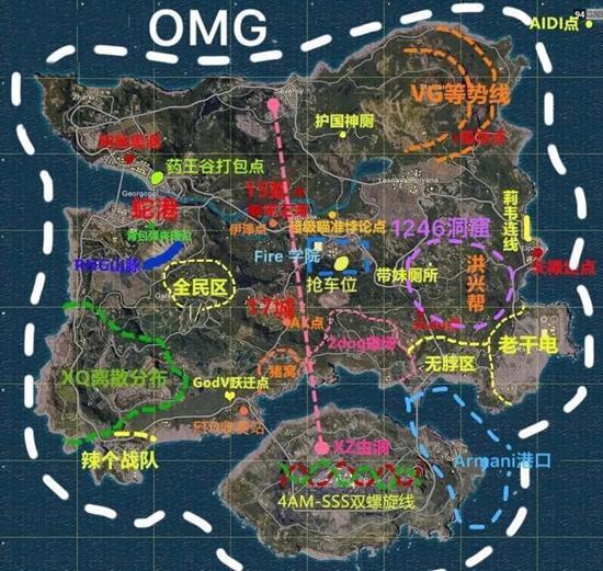 绝地求生地图看懂了吗?来看看玩家自制的吃鸡梗图吧