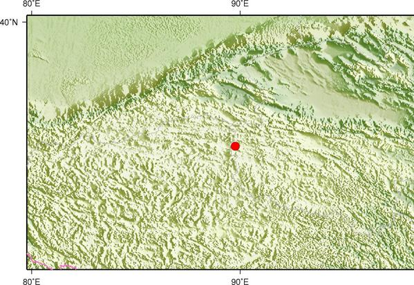 4月13日0时24分青海玉树州治多县发生3.5级地震