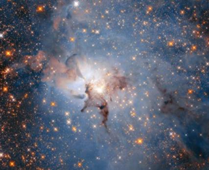 ESA公布距地球约4000光年的巨型星云高清照