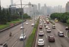 重庆限号第一天 黄花园大桥畅千厮门大桥堵