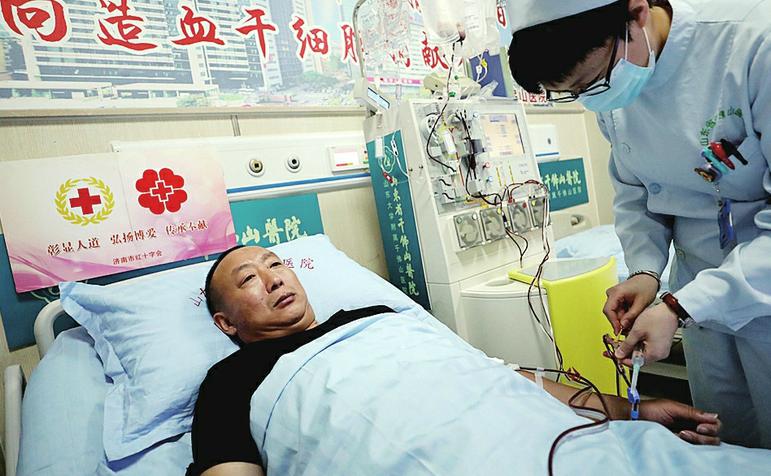 我市实现第51例造血干细胞捐献 捐献者张金辉成为济南捐献时年龄最大的捐献者