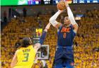 卢比奥受伤比赛出现小波澜 NBA季后赛爵士主场96-91胜雷霆