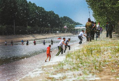 济阳县祖孙俩坠入引黄渠 近百人搜救打捞上岸已身亡