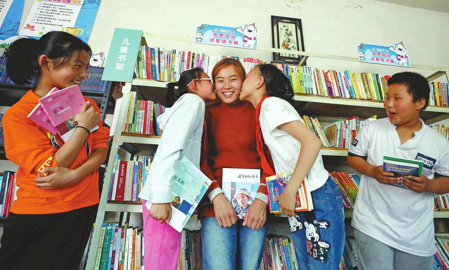 村民自建爱心书屋 给孩子一个看书的地儿