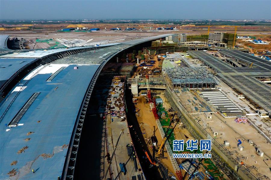 青岛胶东国际机场进展:航站楼已完成主体结构施工
