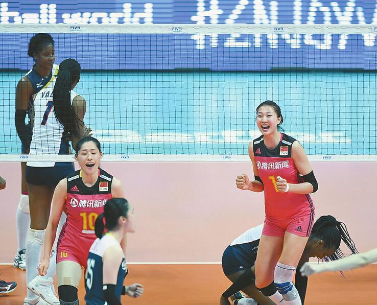 中国女排3:0轻取多米尼加 热 郎平回归首秀新星斩获最高分