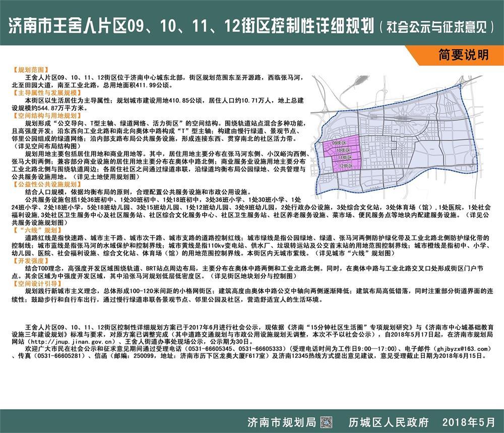 规划调整!王舍人片区09、10、11、12街区控规公示