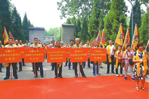 全国各地张养浩后人组团回济南祭拜祖先 旨在弘扬和传承传统文化