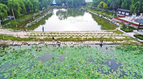 济南张养浩墓公园草木繁盛 修缮保护持续投入让传统文化枝繁叶茂