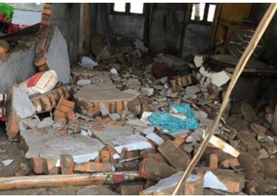 现场实拍:吉林松原5.7地震 震中附近乡村房屋现