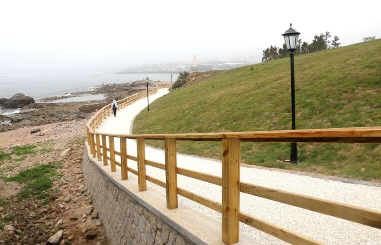 高清:生态小麦岛华丽变身 步栈道环绕全岛360度看海