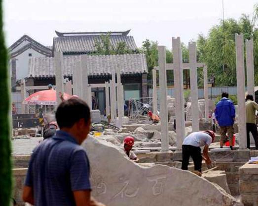 济南范儿!百花洲北入口打造济南老院,下月完工