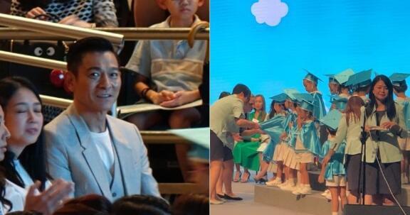 刘德华参加女儿毕业礼 突然间观众席就起了哄!