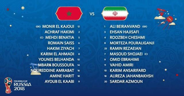 """摩洛哥VS伊朗 伊朗""""梅西""""阿兹蒙能否为亚洲球队争口气?"""