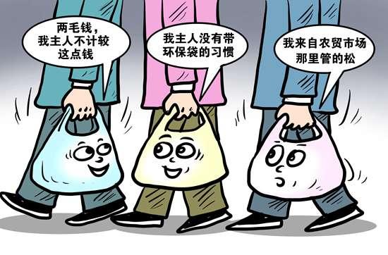 减少塑料袋使用 77.0%受访者承认行动跟不上意识