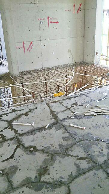 """中康绿城百合花园出现""""胶带房"""",咋回事? 开发商称部分混凝土存在缺陷重新浇筑后将不存在安全问题"""