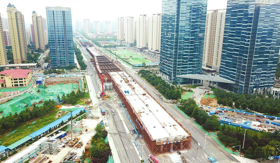 北园高架西延工程规模初显