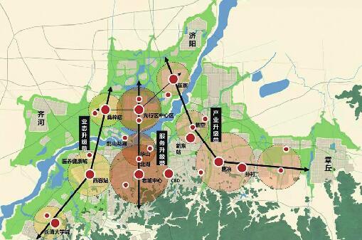 济南先行区未来将建成啥样?定了!引爆区落地大桥组团南部
