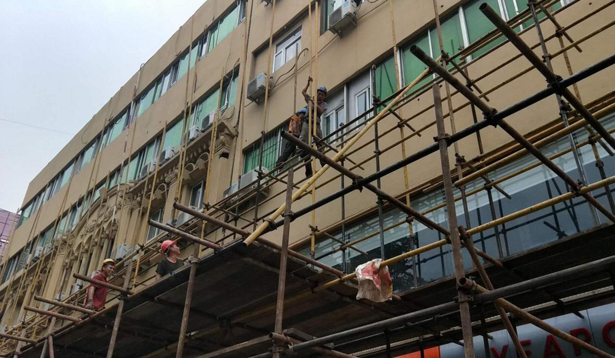 洪楼广场片区提升全面开工