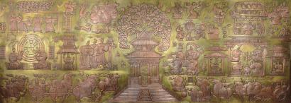巨幅壁画《孔子六艺图》花落泉城