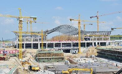 青岛西站最新进度照片曝光 钢结构已经成形(图)