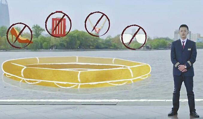 """济南推""""穿越""""版飞行安全视频 空姐在大明湖畔教你系安全带"""