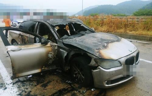 继韩国欧洲宣布召回宝马后,又有两辆宝马在韩高速路着火
