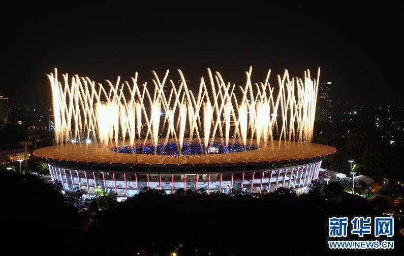 雅加达亚运会开幕 开幕式展示印...