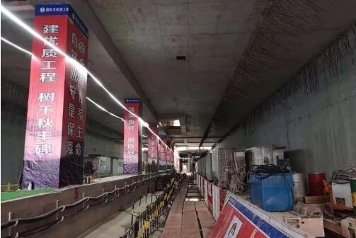 杭海城铁地下隧道首次亮相 计划2020年底建成通车