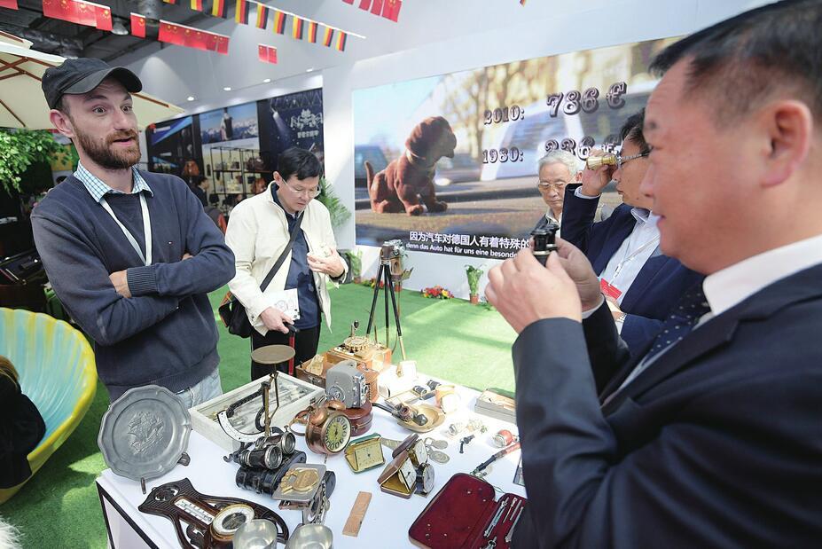 第七届山东文博会在济南国际会展中心拉开帷幕 刘家义龚正参观展区