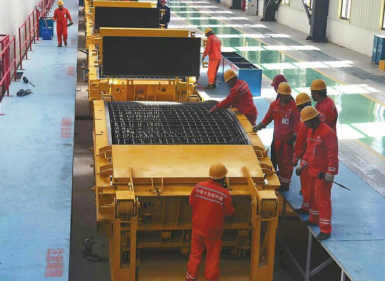 世界公轨合建最大直径的隧道盾构管片在济投产 黄河隧道进入实质性开工阶段