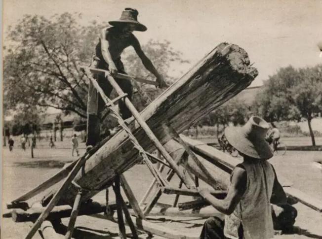 七十多年前济南人的劳动场景