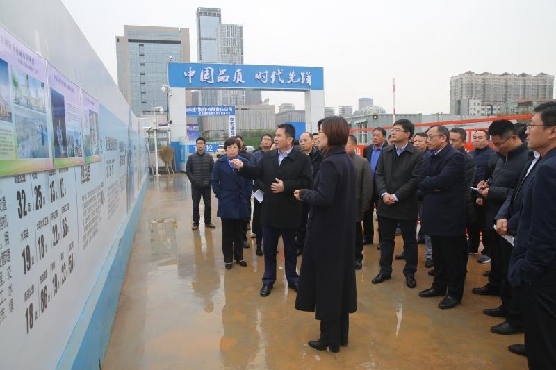 谢兆村同志察看2018年全市重点项目建设观摩评议我区有关项目