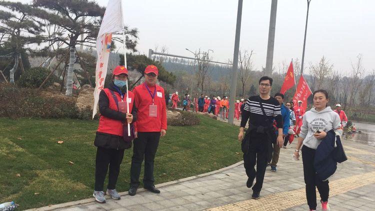 华山彩虹志愿者服务队向2018第三届济南国际徒步大会提供志愿服务