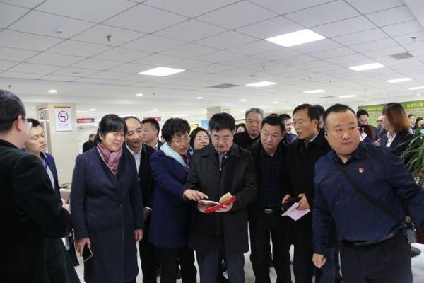 民政部社会事务司王金华司长一行到历下区民政局婚姻登记处指导工作