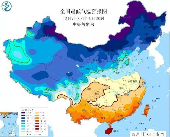长江中下游降雪 这次不是你妈觉得你冷,是真冷!