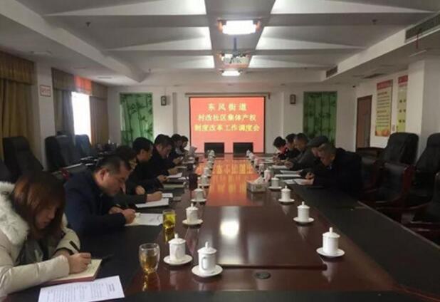 东风街道调度村改社区集体产权制度改革工作